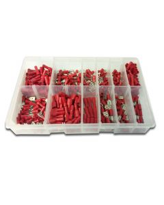 Panther Consumables 400 Piece Assorted Red Popular Pre Insulated Terminals - Workshop Pack