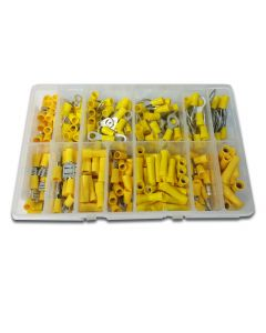 Panther Comsumables 260 Piece Assorted Yellow Popular Pre Insulated Terminals - Workshop Pack