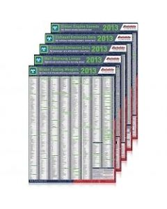 Autodata 2013 MOT 5 Pack of Charts 13-MOT-5P