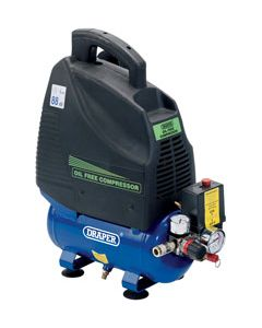 Draper 1.5HP 6L OIL FREE COMPRESSOR 24974