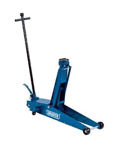 """Draper 2 Tonne Long Chassis High Lift Hydraulic Trolley with """"Quick Lift"""" Facility 48349"""