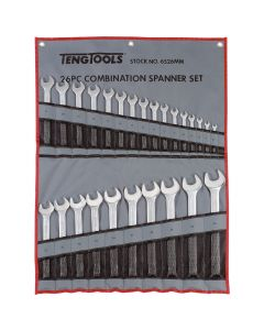 Teng Tools 26 Piece Metric Combination Wrench Set in a Tool Roll 6 - 32mm 6526MM