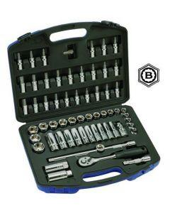 "Britool Hallmark 61 Piece 3/8""dr Hex 6 Point Metric Socket & Accessory Set 748261"