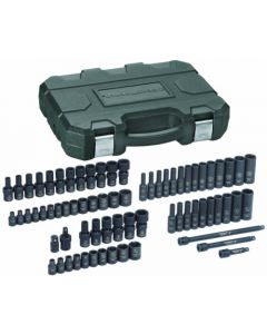 "Gearwrench 71 Piece 1/4"" Drive Metric 4 - 15mm SAE 3/16"" - 9/16"" 6 Point Hex Standard Deep & UJ Impact Socket Set 84903"