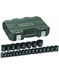 "Gearwrench 25 Piece 1/2"" Drive Metric 8 - 36mm 6 Point Hex Standard Length Impact Socket Set 84933"