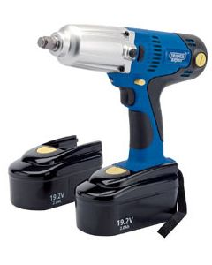 "Draper Expert 19.2v Cordless 1/2"" Impact Wrench Kit with Two Ni-cd Batteries 36986"