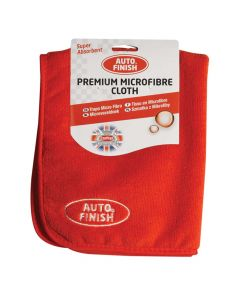 Carplan Auto Finish Box of 6 Premium Micro Fibre Cloths in Red AFM505