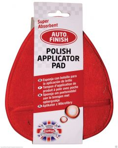 Carplan Auto Finish Box of 6 Polish Applicator Pads in Red AFN505