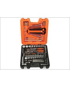 Bahco 138 Piece Socket & Spanner Set Metric 1/4in, 3/8in, & 1/2in BAHS138