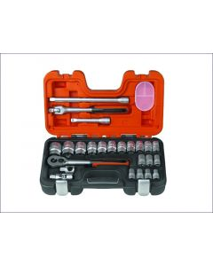 Bahco 24 Piece Socket Set Metric 1/2in Drive BAHS240