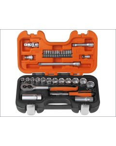 Bahco 34 Piece Socket Set Metric 1/4in & 3/8in Drive BAHS330