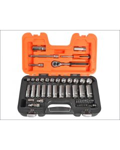 Bahco 53 Piece Socket Set Metric 1/4in & 3/8in Standard & Deep BAHS330L