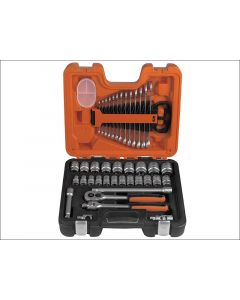 Bahco 40 Piece Socket & Spanner Set  Metric 1/2in Drive BAHS400