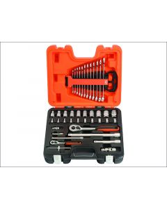 Bahco 41 Piece Socket & Spanner Set Metric 1/4in & 1/2in Drive BAHS410