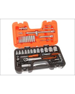 Bahco 56 Piece Socket Set Metric 1/4 & 1/2in Drive BAHS560