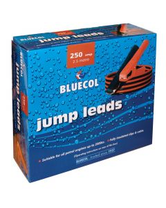 Bluecol 250 amp 2.5mtr Battery Booster Cables/Jump Leads Boxed BBC030