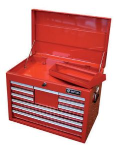 Britool 10 Drawer Tool Chest Top Box in Red BTBR10