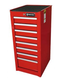 Britool 8 Drawer Side Cabinet in Red BSCR8