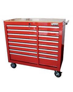 "Britool 16 Drawer Roller Cabinet Roll Cab in Red 41"" Wide Model BTCR16"