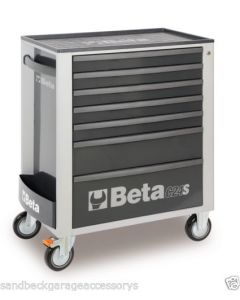 """Beta Tools 29"""" Mobile Roller Cab in Grey c/w Anti-Tilt System ABS Top C24SA7G"""