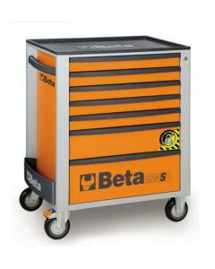"Beta Tools 29"" Mobile Roller Cab in Orange c/w Anti-Tilt System ABS Top C24SA7O"