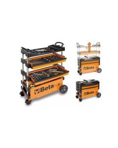 Beta Tools Expanding Tool Trolley Tool Cart Track Day Racing in Orange C27S