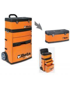 Beta Tools 2 Module Tool Trolley Tool Cart Track Day Racing in Orange C41H