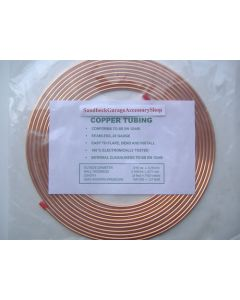 "Saville Copper Brake Pipe Tubing 3/16""/4.75mm Seamless 22 Gauge 25 Foot Roll CBPR1"