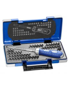 Britool Expert 59 Piece Revolver Ratchet Screwdriver with Piece Bit Set & Carry Case E160804