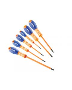 Britool Expert 6 Piece 1000 Volt VDE Insulated Screwdriver Set Phillips® & Slotted E160910B