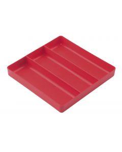 Ernst USA 3 Compartment Plastic Tray Organiser 268 x 268 x 38mm E5020