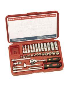 "Genius 32 Piece 1/4""dr Metric Socket & Accessory Set EU-232M"
