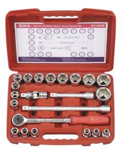 "Genius 22 Piece 1/2""dr Metric Socket & Accessory Set EU-422M"