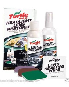 Turtle Wax Headlight Restorer Kit - Refinishes Dull & Faded Headlights FG6690