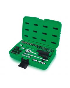 """Toptul Professional 41 Piece 1/4"""" Drive Socket & Accessory Set with Robust Case"""