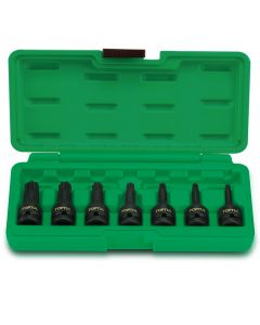 "Toptul Professional Tools 7 Piece 1/2"" Drive Star T30 to T70 Torx Bit Impact Socket Set - Blow Case"