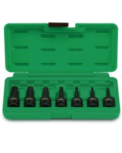 "Toptul Professional Tools 7 Piece 1/2"" Drive Metric 4 - 14mm Hex Bit Impact Socket Set - Blow Case"
