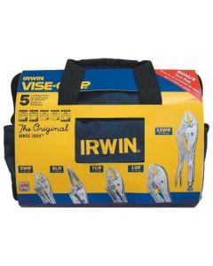 Irwin Vise-Grip 5 Piece Original Locking Pliers with Kit Bag 2077704