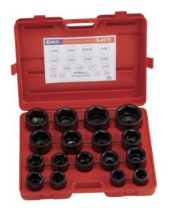 "Genius 17 Piece 1""drive Metric 6 Point Standard Impact Socket Set: Part no:IS-817M"