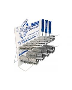 Jubilee® 100 Piece Mild Steel Jubilee® Clips Dispenser with 3 x Jubilee Flexidrivers®. - Counter Display