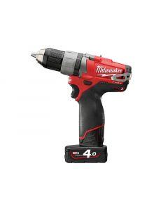 Milwaukee M12 CDD-402C Fuel™ Compact Cordless Drill Driver 12 Volt 2 x 4.0Ah Li-Ion M12 CDD-402C Fuel
