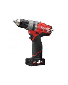 Milwaukee M12 CPD-402C FUEL™ Compact Cordless Percussion Drill 12 Volt 2 x 4.0Ah Li-Ion M12 CPD-402C FUEL