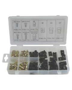 Normex 170 Piece U Clip & Screw Assortment - Workshop Pack