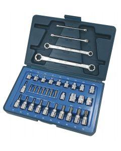 "Signet 35 Piece 3/8"" Drive Torx Socket & Spanner Set S12835"