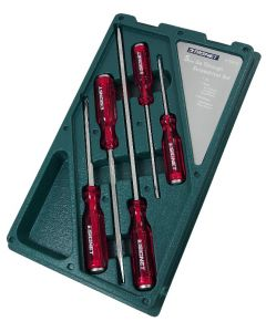 Signet 5 Piece Pound Thru Screwdriver Set Red S52676