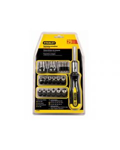 Stanley 29 Piece Ratcheting Screwdriver with Bit Set & Socket Set STA054925