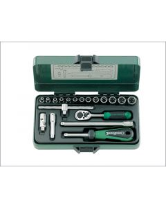 Stahlwille Socket Set of 19 Metric 1/4in Drive STW40136