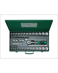 Stahlwille Socket Set of 45 Bi-Hexagon AF / Metric STW50MA396N