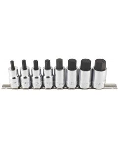 "Trident Tools 8 Piece 1/2"" Drive Socket Hex Bit Set Metric 6 - 19mm 55mm Long T130900"