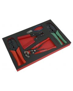 Trident 5 Piece Electrical Pliers Set in a Foam Insert T190